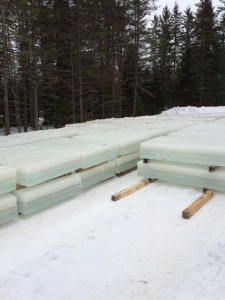 Blocs de glace
