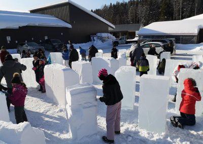 Photo - atelier de sulpture sur glace - Festival St-Côme en Glace 2020