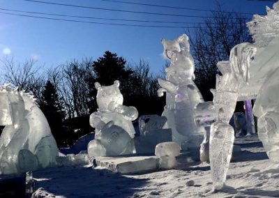 Photo - sculpture sur glace- Festival St-Côme en Glace 2020