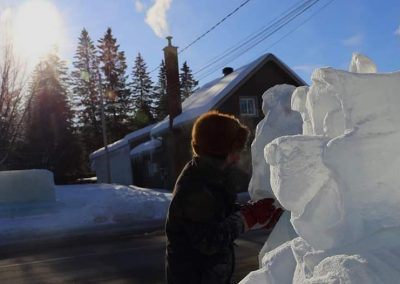 Photo - sculpture sur neige- Festival St-Côme en Glace 2020