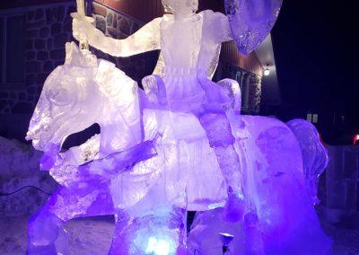 sculpture en glace - annie-ève Larochelle